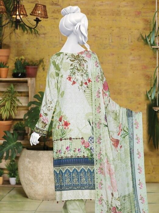 Tarkashi Embroidered Lawn Unstitched 3 Piece Suit 2019 GE 803 - FaisalFabrics.pk