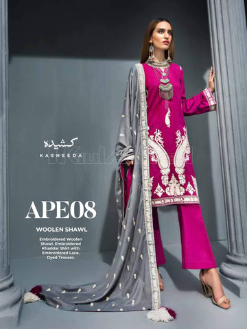 GulAhmed Embroidered Shawl Collection 2019 3Pc Suit APE-08 KASHEEDA