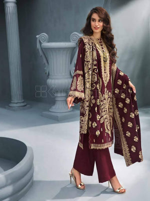 GulAhmed Embroidered Shawl Collection 2019 3Pc Suit AYE-01 KHWABEEDA