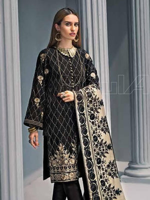 GulAhmed Embroidered Shawl Collection 2019 3Pc Suit AYE-03 BAAD-E-SABA