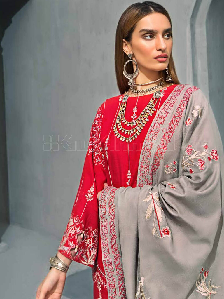 GulAhmed Embroidered Shawl Collection 2019 3Pc Suit AYE-04 GUL-E-RANA - FaisalFabrics.pk