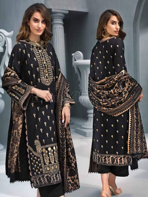 GulAhmed Embroidered Shawl Collection 2019 3Pc Suit AYE-05 SANGTAR