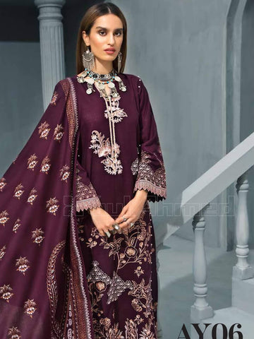 GulAhmed Embroidered Shawl Collection 2019 3Pc Suit AY-06 CHASHM-E-SHAAHI