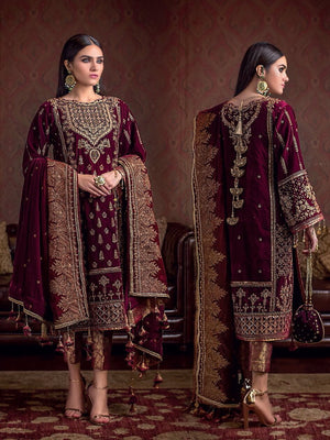 GulAhmed Noor-e-Chasham Embroidered 3PC Suit VLW 13 POLKI