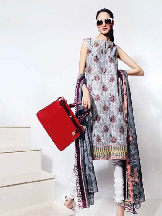 GulAhmed Bag-e-Gul Unstitched 2PC Embroidered Lawn Suit TL-258 A - FaisalFabrics.pk
