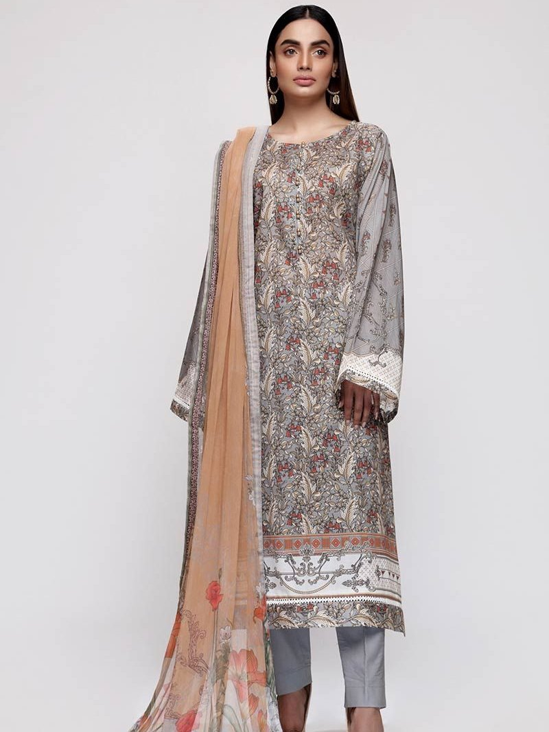GulAhmed Mother Collection 3PC Unstitched Lawn Suit BM-151 - FaisalFabrics.pk