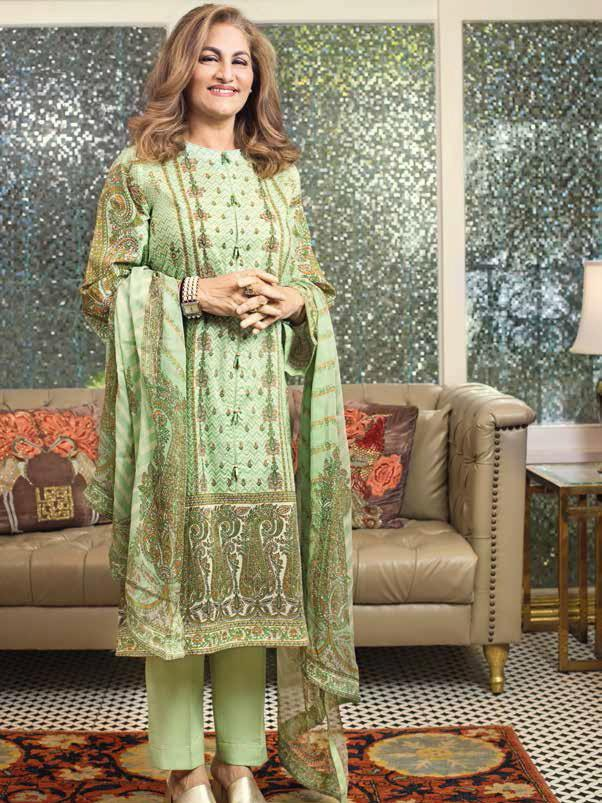 GulAhmed Mother Collection 3PC Unstitched Lawn Suit BM-153 - FaisalFabrics.pk