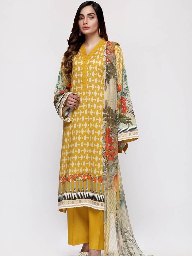 GulAhmed Mother Collection 3PC Unstitched Lawn Suit BM-155 - FaisalFabrics.pk