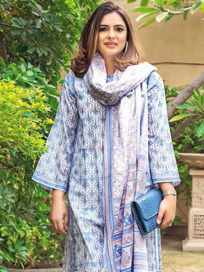 GulAhmed Mother Collection 3PC Unstitched Lawn Suit CL-653 A - FaisalFabrics.pk