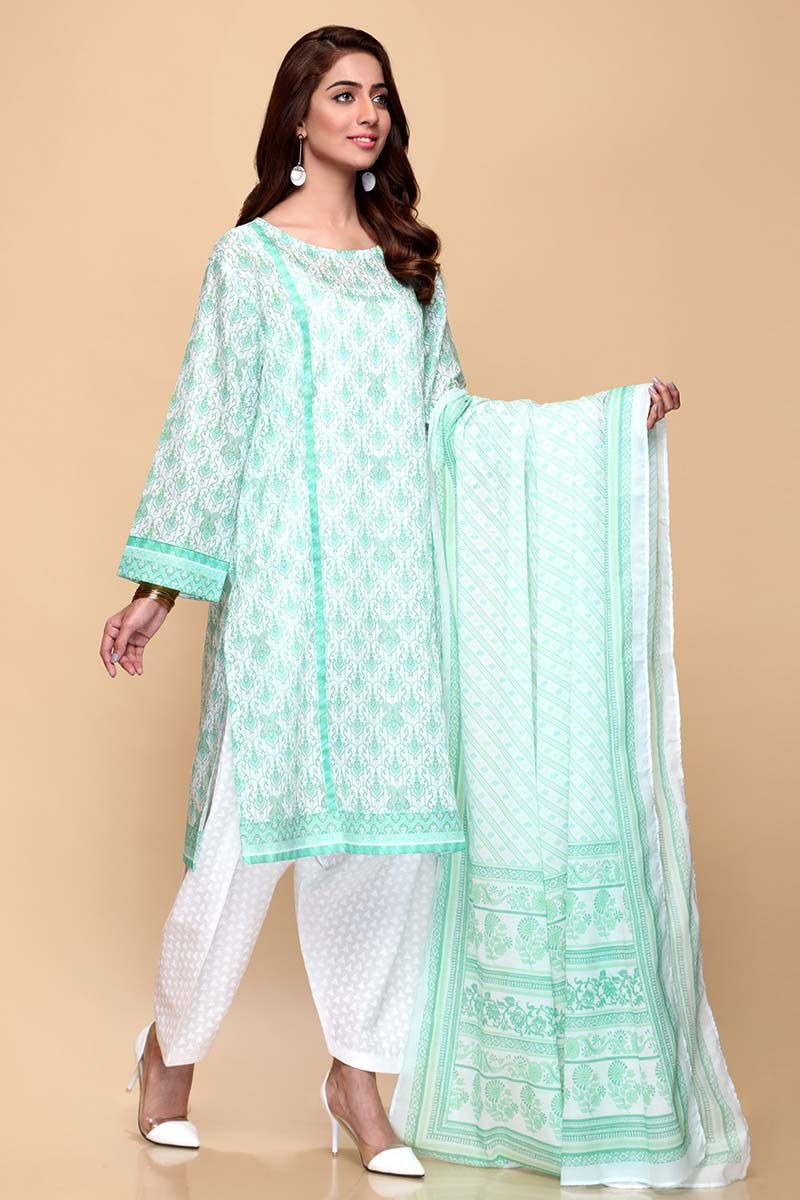 GulAhmed Mother Collection 3PC Unstitched Lawn Suit CL-653 B - FaisalFabrics.pk