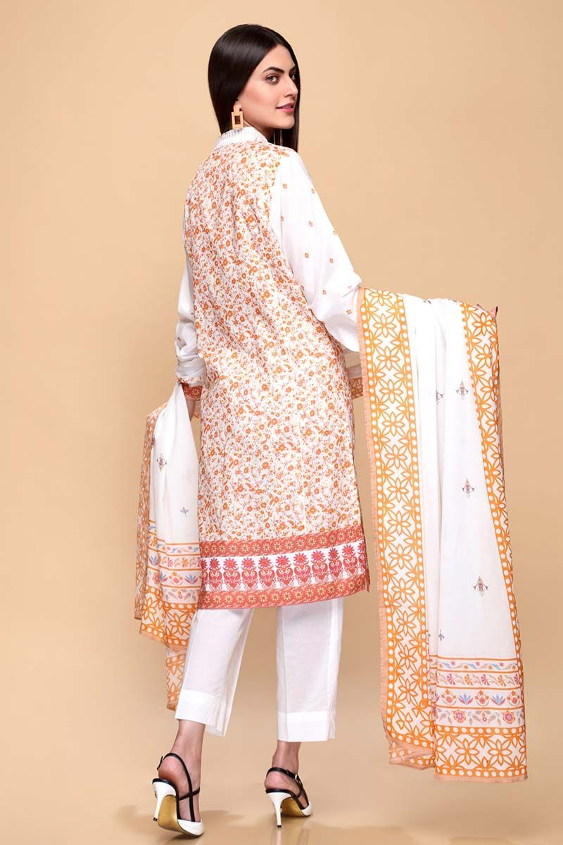GulAhmed Mother Collection 3PC Unstitched Lawn Suit CL-665 A - FaisalFabrics.pk