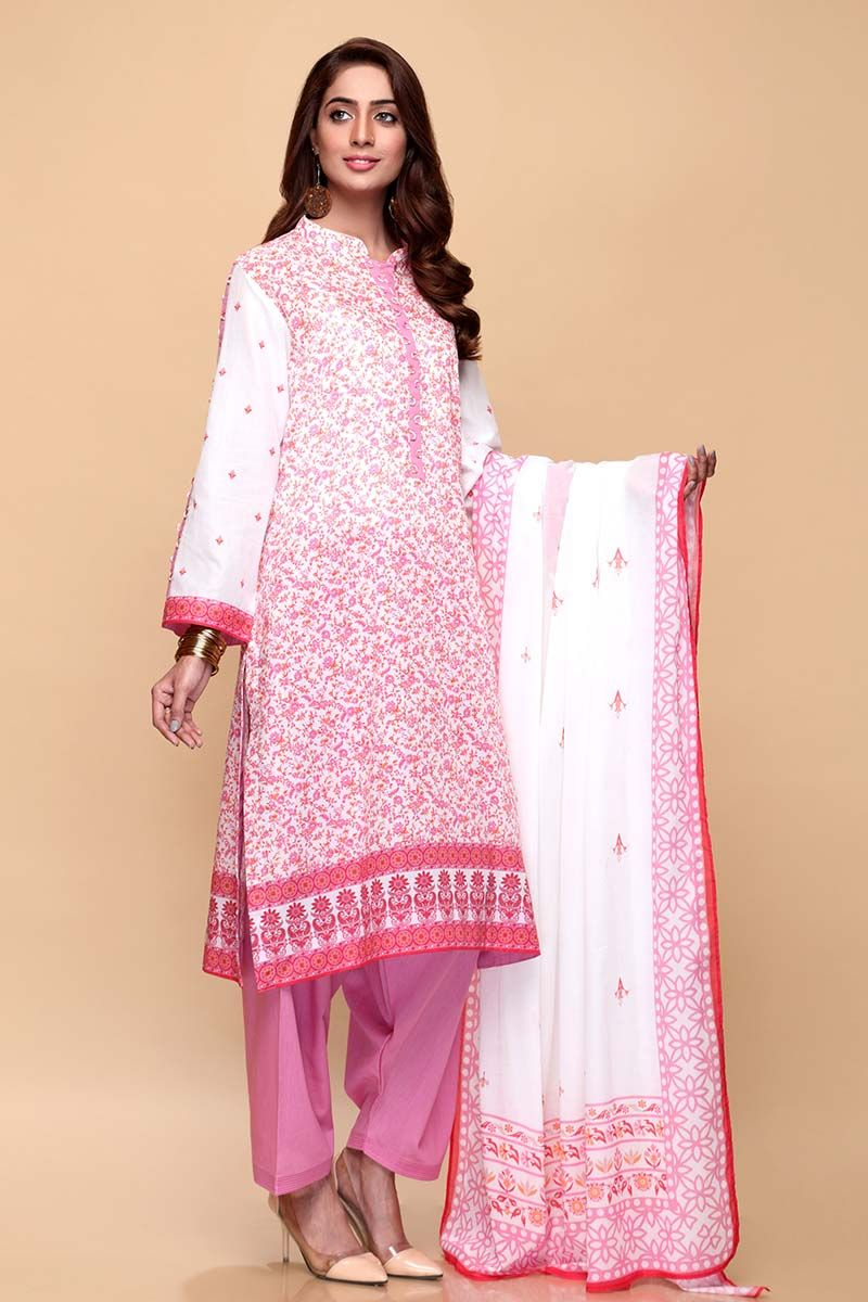 GulAhmed Mother Collection 3PC Unstitched Lawn Suit CL-665 B - FaisalFabrics.pk