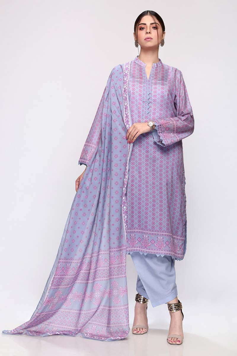 GulAhmed Mother Collection 3PC Unstitched Lawn Suit CL-667 A - FaisalFabrics.pk