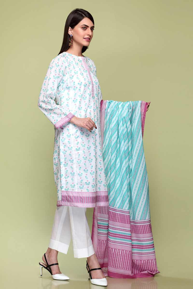 GulAhmed Mother Collection 3PC Unstitched Lawn Suit CL-670 B - FaisalFabrics.pk