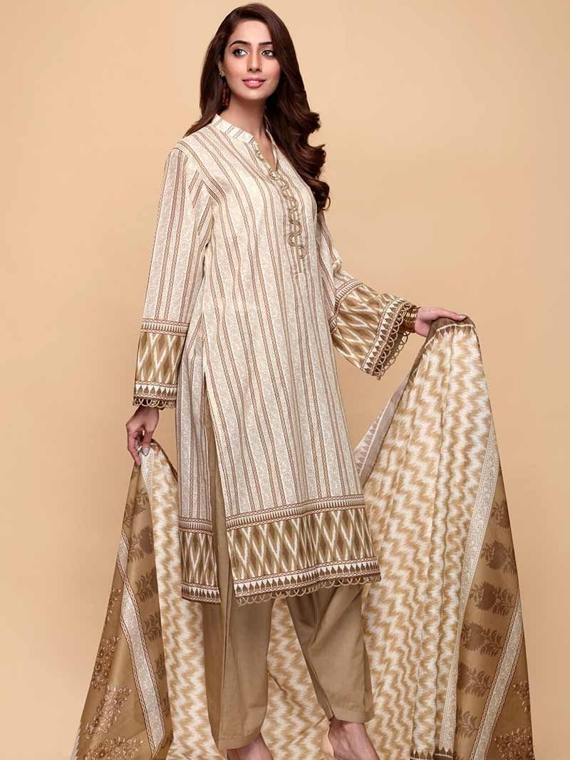 GulAhmed Mother Collection 3PC Unstitched Lawn Suit CL-671 A - FaisalFabrics.pk