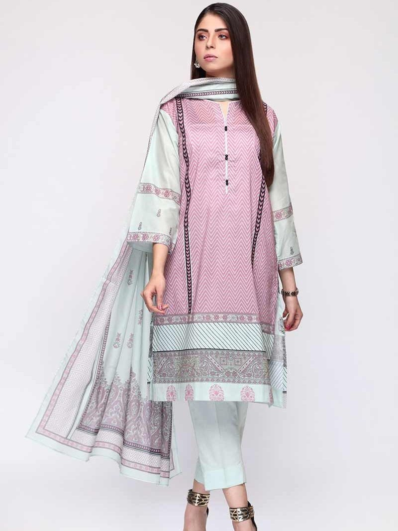 GulAhmed Mother Collection 3PC Unstitched Lawn Suit CL-676 A - FaisalFabrics.pk