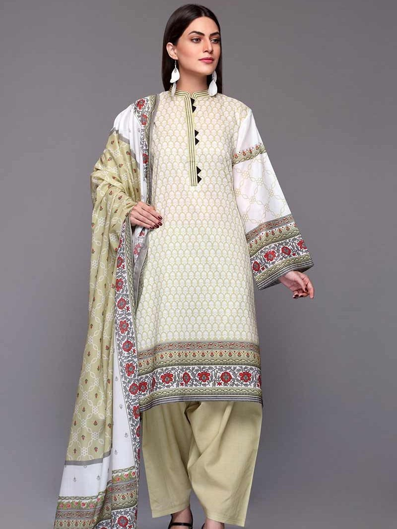 GulAhmed Mother Collection 3PC Unstitched Lawn Suit CL-701 A - FaisalFabrics.pk