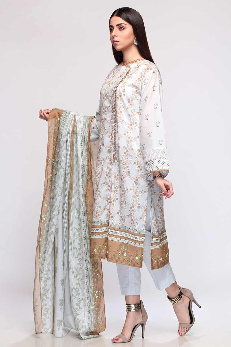 GulAhmed Mother Collection 3PC Unstitched Lawn Suit CL-702 A - FaisalFabrics.pk