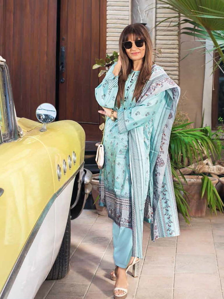 GulAhmed Mother Collection 3PC Unstitched Lawn Suit CL-702 B - FaisalFabrics.pk