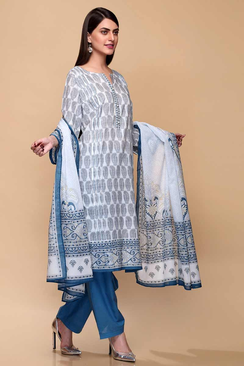 GulAhmed Mother Collection 3PC Unstitched Lawn Suit CL-707 A - FaisalFabrics.pk