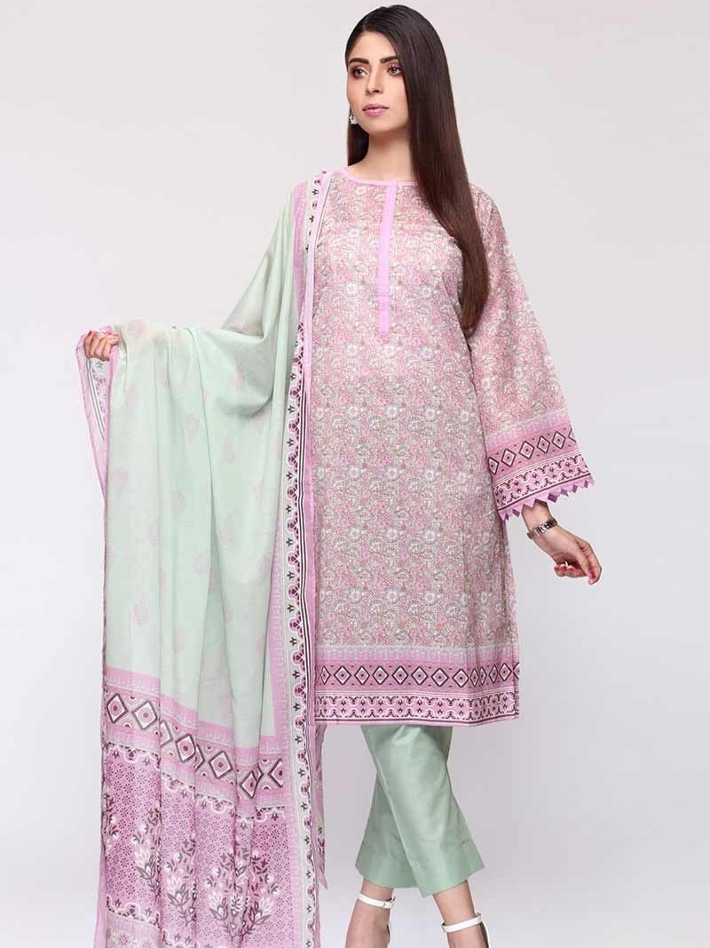 GulAhmed Mother Collection 3PC Unstitched Lawn Suit CL-708 A - FaisalFabrics.pk