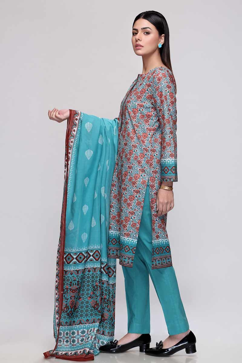 GulAhmed Mother Collection 3PC Unstitched Lawn Suit CL-708 B - FaisalFabrics.pk