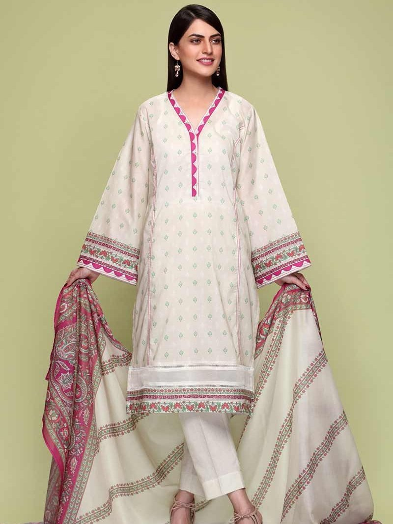 GulAhmed Mother Collection 3PC Unstitched Lawn Suit CL-715 B - FaisalFabrics.pk