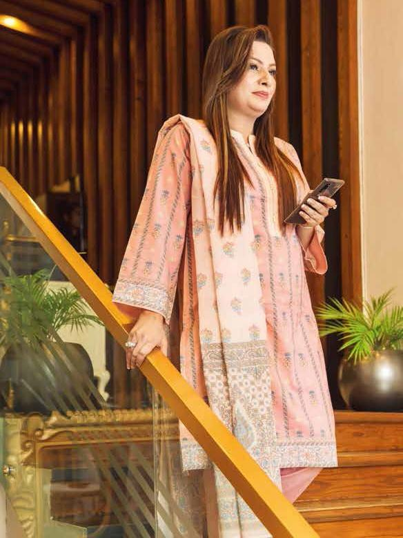 GulAhmed Mother Collection 3PC Unstitched Lawn Suit CL-716 A - FaisalFabrics.pk