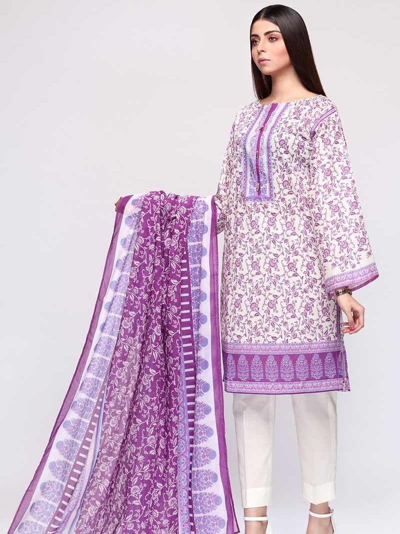 GulAhmed Mother Collection 3PC Unstitched Lawn Suit CL-717 A - FaisalFabrics.pk