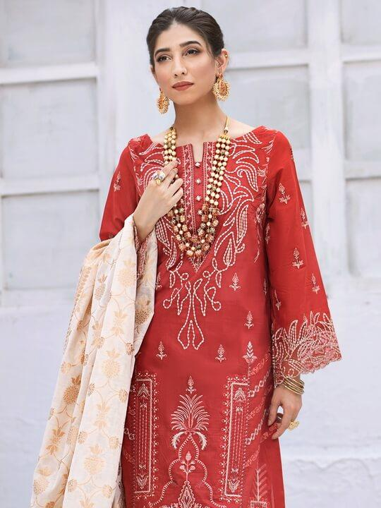 IZNIK Zircoon Festive Lawn 2020 Embroidered 3PC Suit EFL-03 Zard Heera - FaisalFabrics.pk