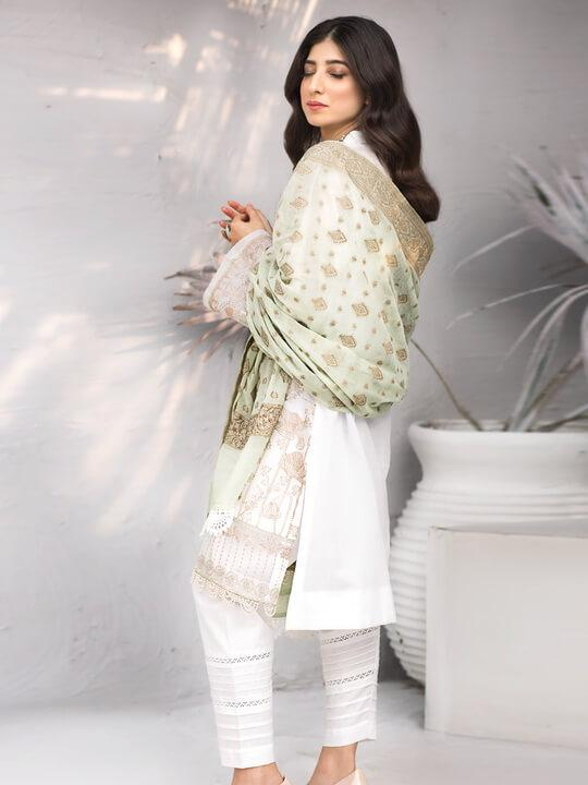 IZNIK Zircoon Festive Lawn 2020 Embroidered 3PC Suit EFL-08 Sang E Marmar - FaisalFabrics.pk