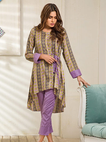 Ittehad Textile Rangoli Lawn Printed Unstitched 2 Piece Suit 2005A Purple