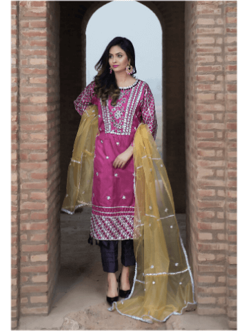 Ketifa Wedding Collection Unstitched 3 piece Suit KTH-0104 - FaisalFabrics.pk