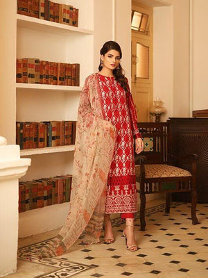 LSM Meraki Festive Collection 2020 Embroidered Lawn 3pc Suit BLC-5010