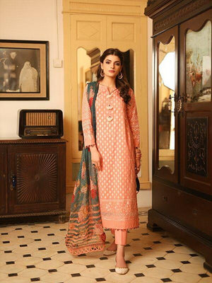 LSM Meraki Festive Collection 2020 Embroidered Lawn 3pc Suit BLC-5011