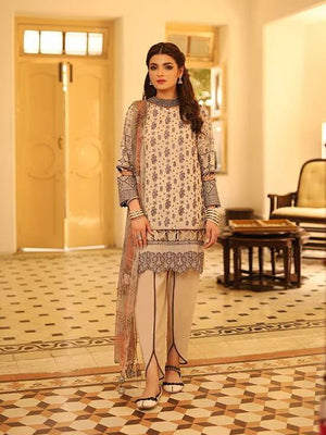 LSM Meraki Festive Collection 2020 Embroidered Lawn 3pc Suit BLC-5012