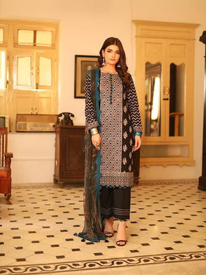 LSM Meraki Festive Collection 2020 Embroidered Lawn 3pc Suit BLC-5013