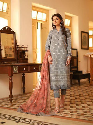 LSM Meraki Festive Collection 2020 Embroidered Lawn 3pc Suit BLC-5014