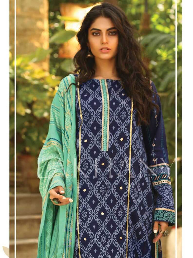 Lakhany Embroidered Pashmina 2019 Unstitched 3 Piece Suit RE-8802 A - FaisalFabrics.pk