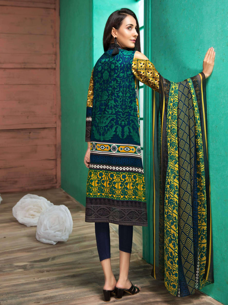 LimeLight Lawn 2PC Unstitched Suit Summer Collection 2019 U0363 Blue