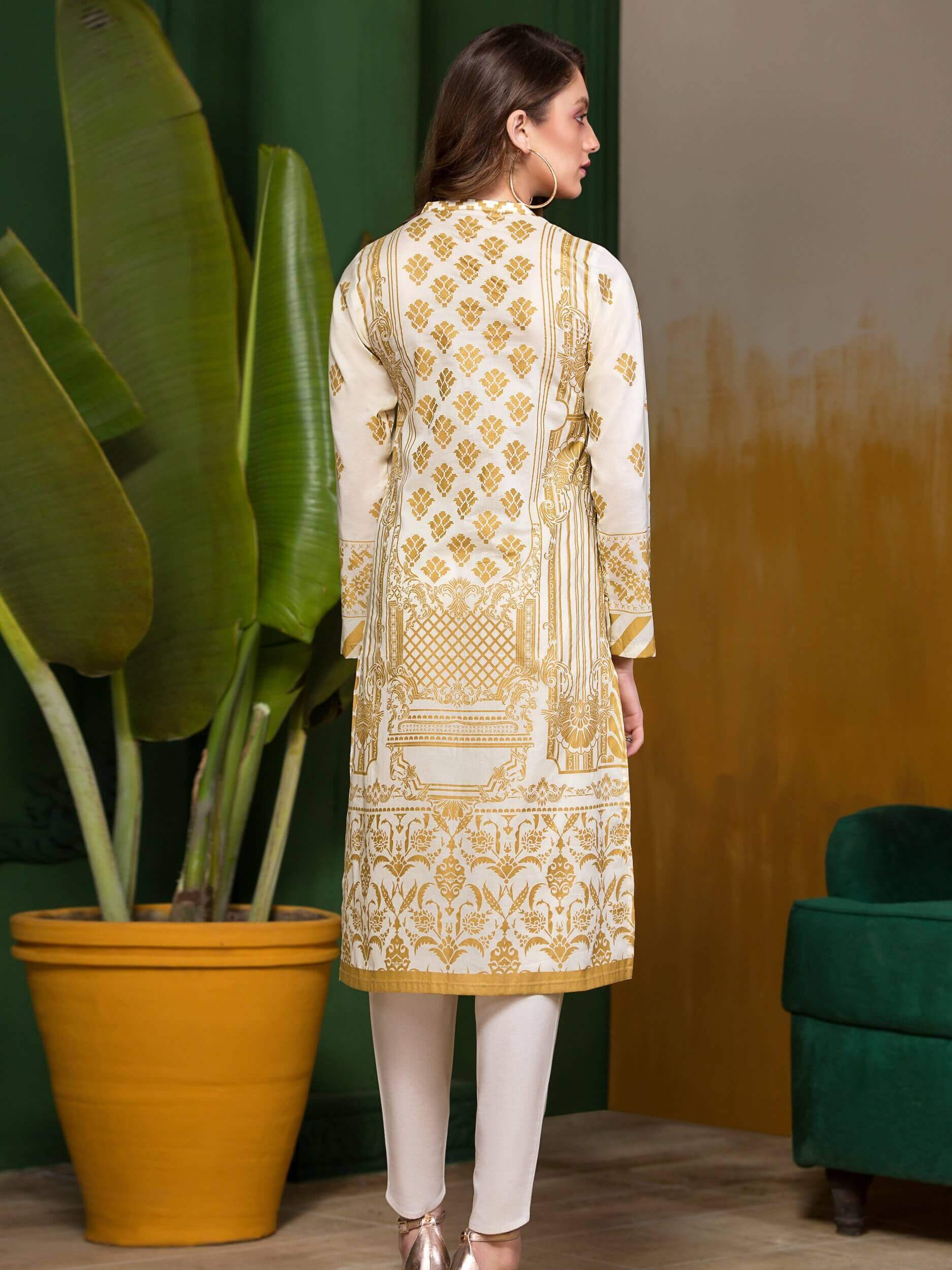 LimeLight Lawn 1PC Unstitched Shirt Summer Collection 2019 U0628 Of White - FaisalFabrics.pk