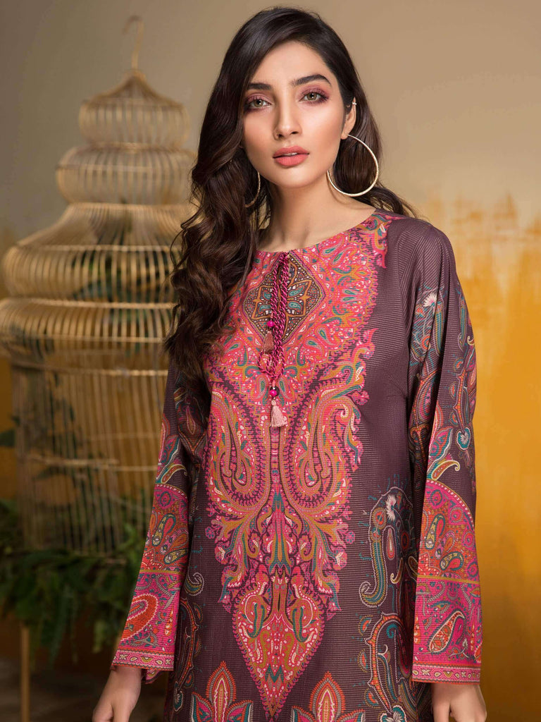 LimeLight Lawn 1PC Unstitched Shirt Summer Collection 2019 U0641 Purple