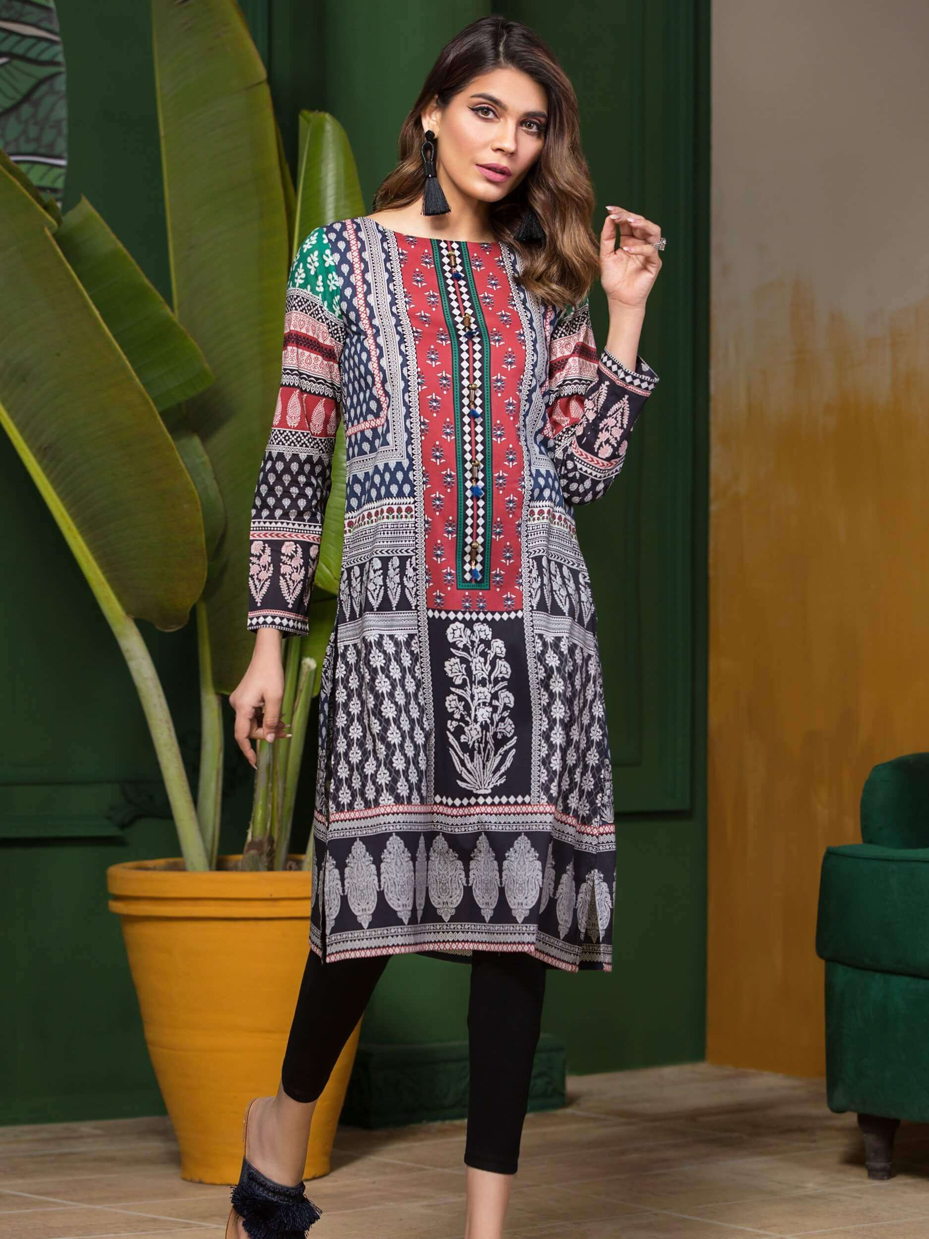LimeLight Lawn 1PC Unstitched Shirt Summer Collection 2019 U0648 Blue - FaisalFabrics.pk