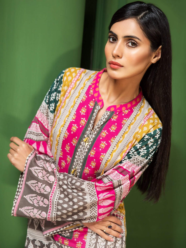 LimeLight Lawn 1PC Unstitched Shirt Summer Collection 2019 U0648 Yellow