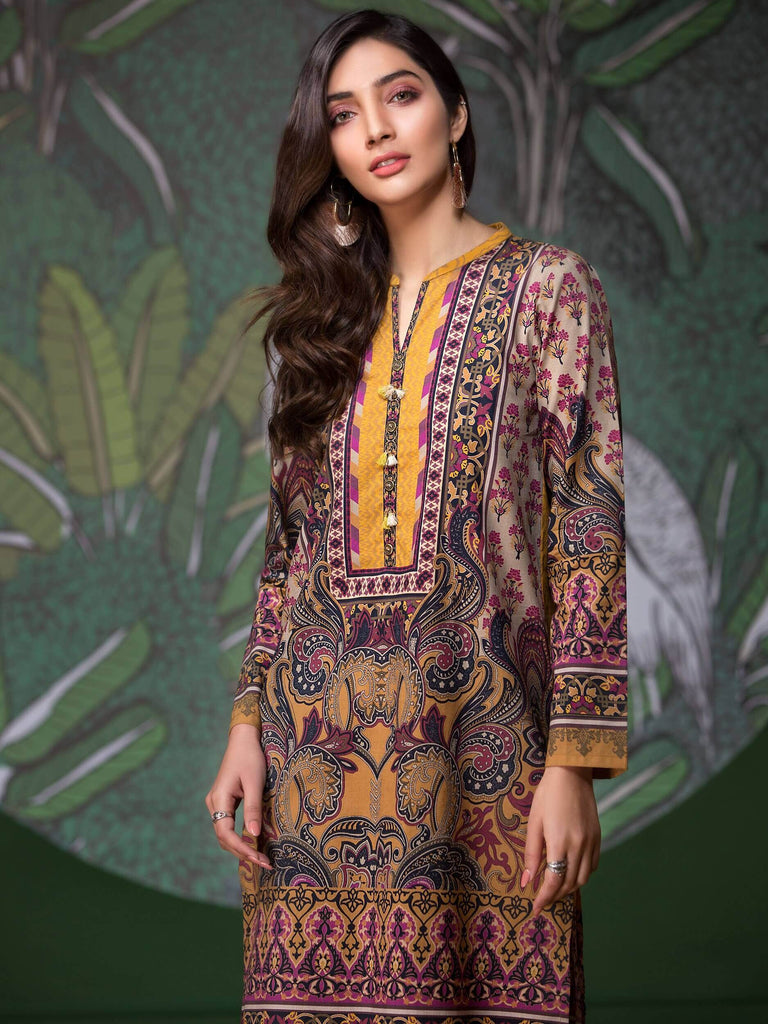 LimeLight Lawn 1PC Unstitched Shirt Summer Collection 2019 U0650 Mustard