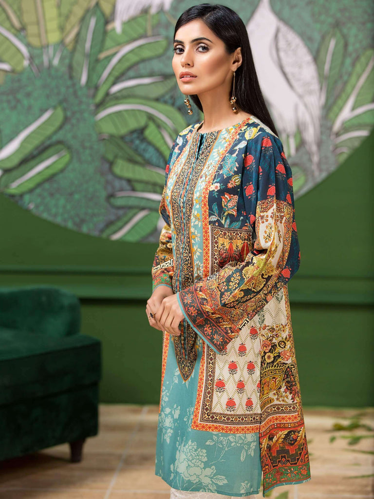 LimeLight Lawn 1PC Unstitched Shirt Summer Collection 2019 U0653 Blue - FaisalFabrics.pk