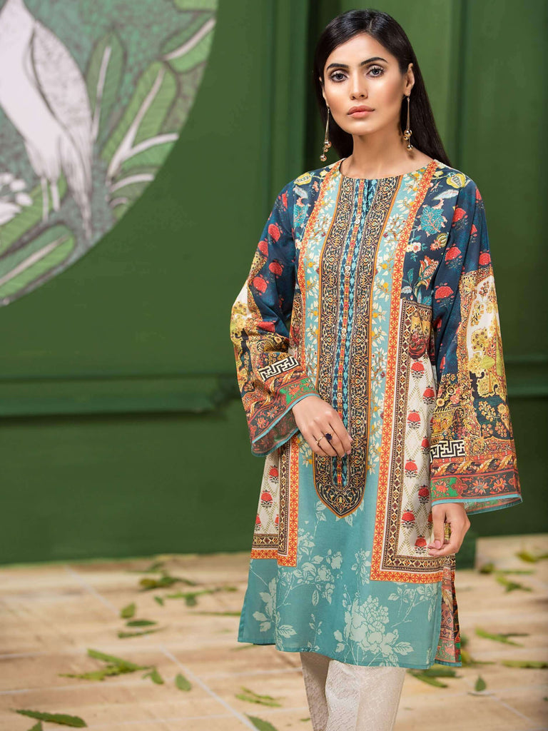 LimeLight Lawn 1PC Unstitched Shirt Summer Collection 2019 U0653 Blue