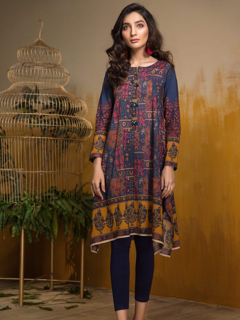 LimeLight Lawn 1PC Unstitched Shirt Summer Collection 2019 U0656 Blue