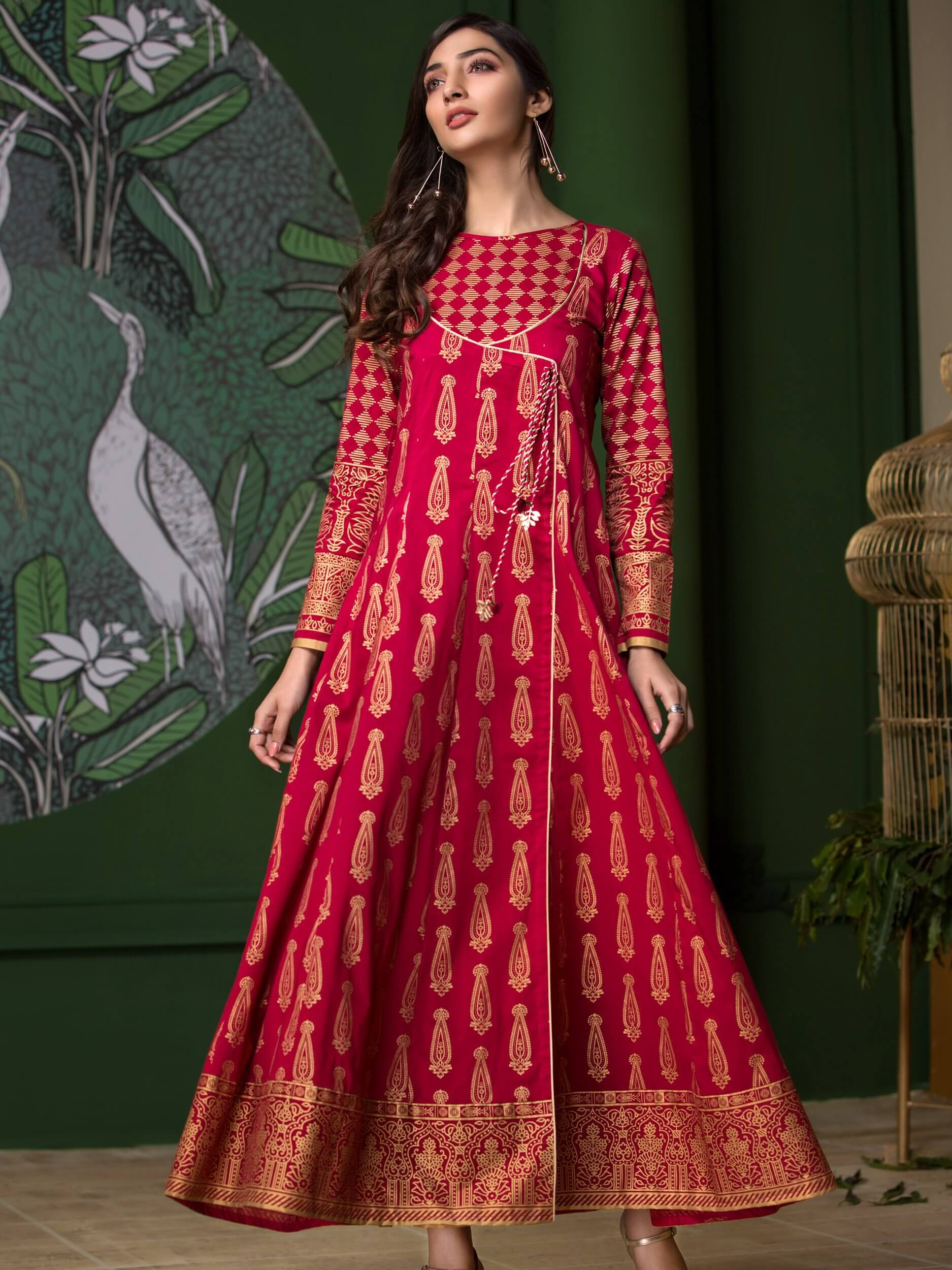 LimeLight Lawn 1PC Unstitched Shirt Summer Collection 2019 U0707 Red - FaisalFabrics.pk