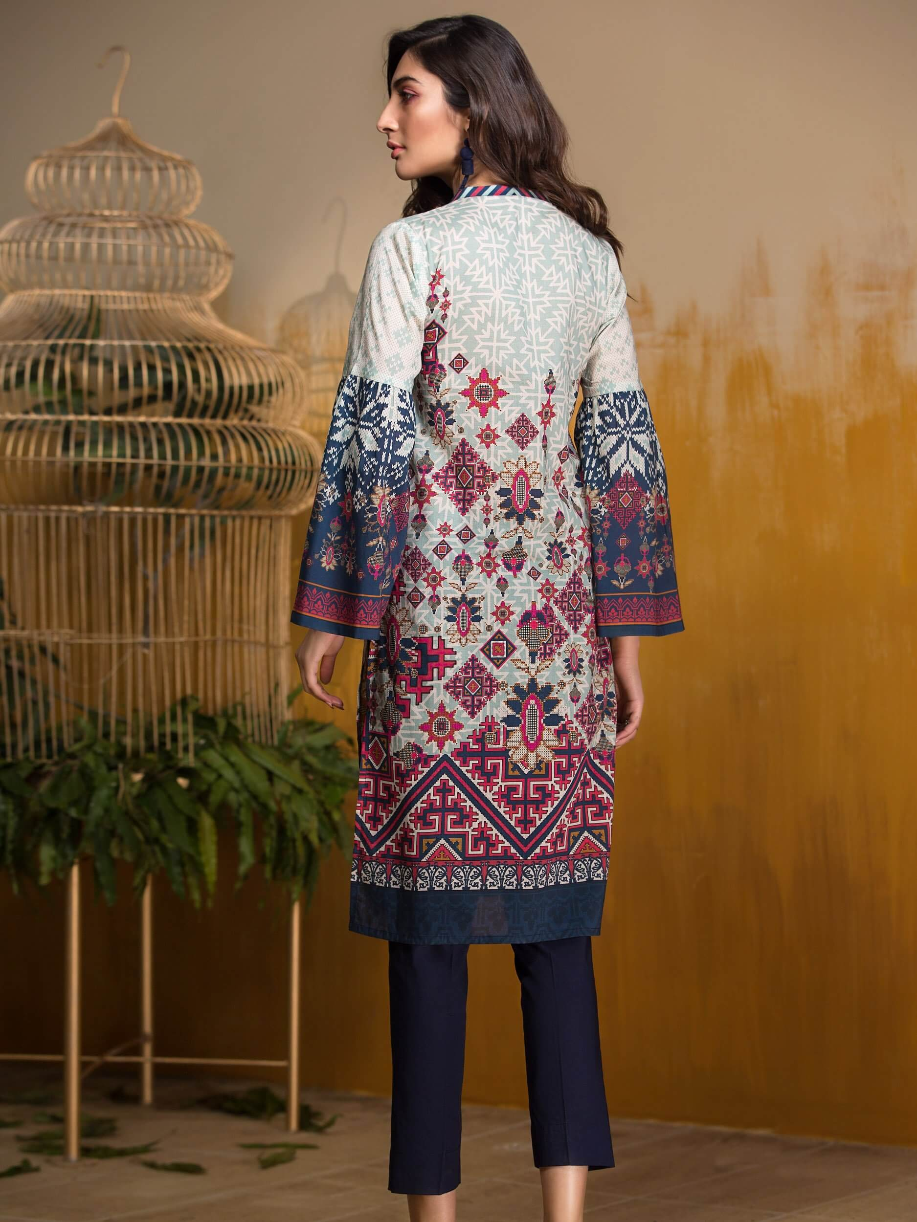 LimeLight Lawn 1PC Unstitched Shirt Summer Collection 2019 U0724 Blue - FaisalFabrics.pk